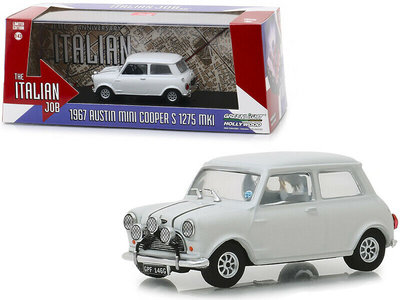 Greenlight 1:43 Austin Mini Cooper S 1275 MKI 1967 The Italian Job 1969 wit