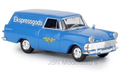 Brekina 1:87 Opel P2 Kasten NSB (N) TD 1960 blauw