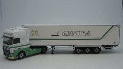 Eligor 1:43 Daf XF480 MY 2017 Superspace Cab Gauthier, trekker met oplegger