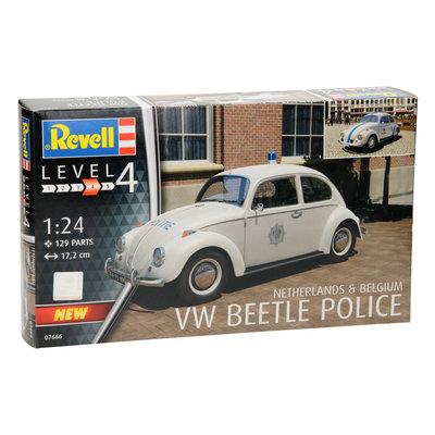 Revell 1:24 Volkswagen Beetle Politie Nederland en Begie 1970 bouwdoos