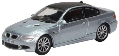 Oxford 1:76 BMW M3 Coupe E92 lichtblauw, in vitrine
