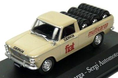 Atlas 1:43 Fiat 1500 Multicarga Pick-up Pneus beige 1965, in blisterverpakking
