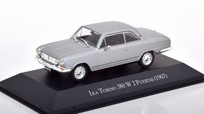 Atlas 1:43 Renault Ika Torino 380w 1967 grijsmetallic in blisterverpakking