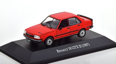 Atlas 1:43 Renault 18 GTX 2 1987 rood in blisterverpakking