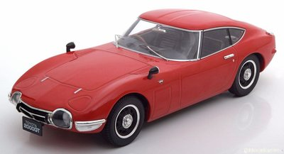 Triple9 1:18 Toyota 2000 GT 1967 rood