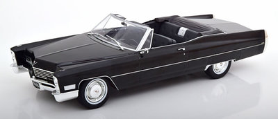 KK Scale 1:18 Cadillac DeVille Convertible 1968 zwart oplage 750 stuks
