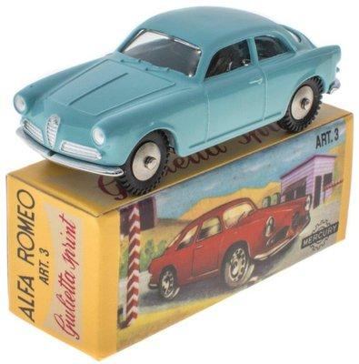 Mercury 1:48 Alfa Romeo Giulietta Sprint Veloce lichtblauw Edition Atlas
