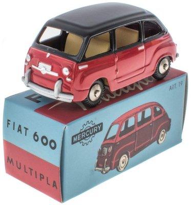 Mercury 1:48 Fiat 600 Multipla rood met zwarte dak, Edition Atlas