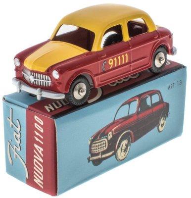 Mercury 1:48 Fiat Nuova 1100 Bern Taxi rood geel, Edition Atlas