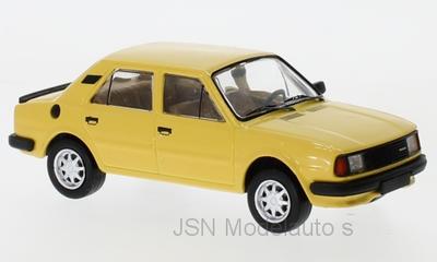 IXO 1:43 Skoda 120L 1983 geel. Verwacht 02-2020. Te reserveren