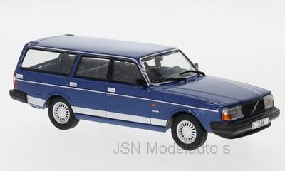IXO 1:43 Volvo 240 metallic blauw Polar 1988. Verwacht 02-2020, te reserveren