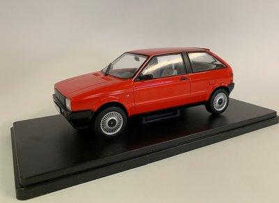 Atlas 1:24 Seat Ibiza MKI 1.5 GLX 1984 rood, in blisterverpakking