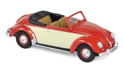 Norev 1:43 Volkswagen Hebmuller 1949 Red & creme