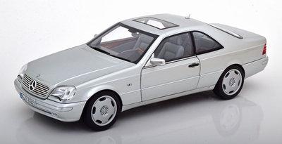 Norev 1:18 Mercedes Benz S600 Coupe 1998 zilver