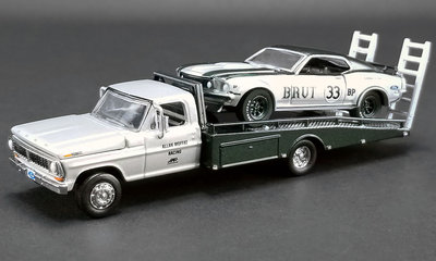 ACME 1:64 Ford F-350 Ramp Truck with Trans Am Mustang no33 1969 Allan Moffat Racing BRUT