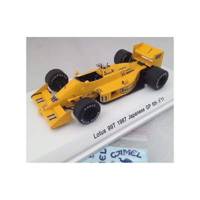 Rece Collection ( Spark) 1:43 Lotus 99T GP F1 Japan 1987 no 11 Gem S Nakajima geel