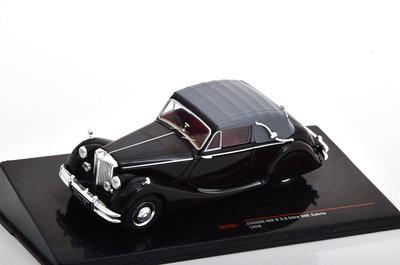 IXO 1:43 Jaguar MK V DHC 3.5 Cabrio 1950 zwart, RHD