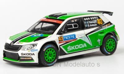 Abrex 1:43 Skoda Fabia III R5 No40 Rally WM Finnland P Tidemand E Axelsson 2015