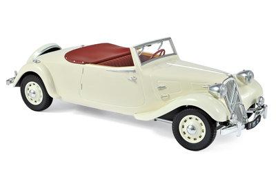 Norev 1:18 Citroen Traction Avant 11 B Cabriolet 1939 creme. Tijdelijk niet in voorraad
