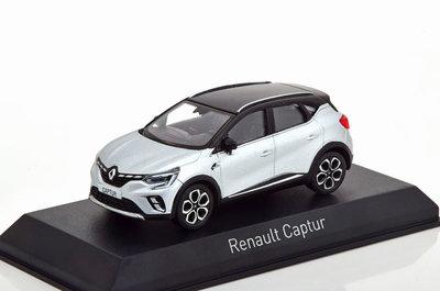 Norev 1:43 Renault Captur 2020 zilver met zwart
