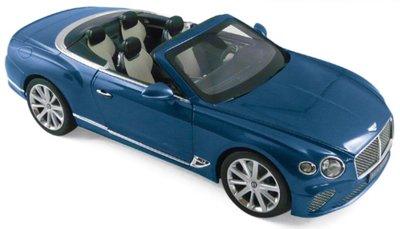 Norev 1:18 Bentley Continental GTC 2019 Blue Crystal, Levering 12/2019. Te reserveren