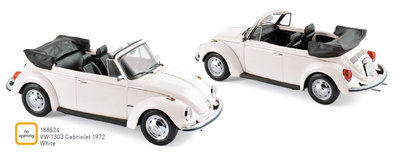 Norev 1:18 Volkswagen 1303 Cabriolet 1972 - White. Levering 12/2019. Te reserveren