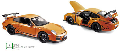 Norev 1:18 Porsche 911 GT3 RS 2009 oranje
