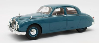 Cult Models 1:18 Jaguar 2.4 MKI blauw 1955. Resin model