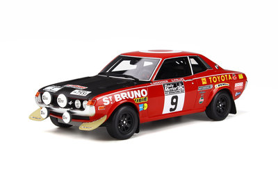 Otto Mobile 1:18 Toyota Celica 1600 GT TA22 RAC 1973 RAC - O. Andersson/ G Phillips. Verwacht 01/2020