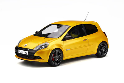 Otto Mobile 1:18 Renault Clio 3 RS Ph.2 Sport Cup Jaune Sirius. Verwacht 02/2020