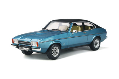 Otto Mobile 1:18 Ford Capri Mk2 Miami Blue Poly. Verwacht 02/2020
