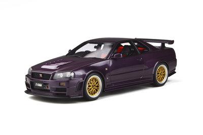 Otto Mobile 1:18 Nissan Skyline GT-R Nismo Z-Tune (R34) Midnight Purple. Verwacht 02/2020