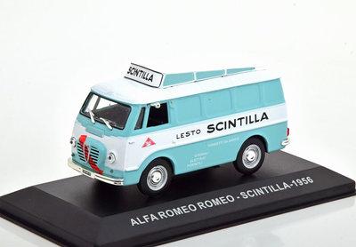Atlas 1:43 Alfa Romeo Romeo - Scintilla 1956 lichtblauw wit, in vitrine