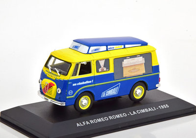 Atlas 1:43 Alfa Romeo Romeo - La Cimbali 1955 blauw geel