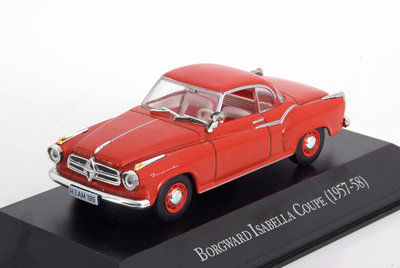 Atlas 1:43 Borgward Isabella Coupe 1957 - 58 rood