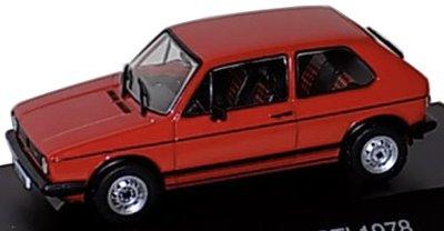 Atlas 1:43 Volkswagen Golf GTI 1978 rood, in vitrine
