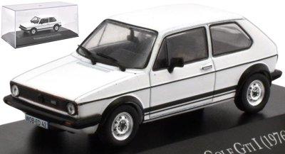 Atlas 1:43 Volkswagen Golf GTI I 1976 wit in vitrine