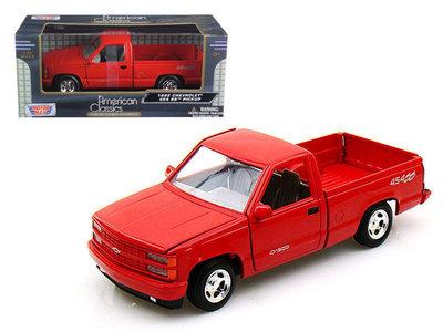 Motor Max 1:24 Chevrolet 454 SS Pickup rood