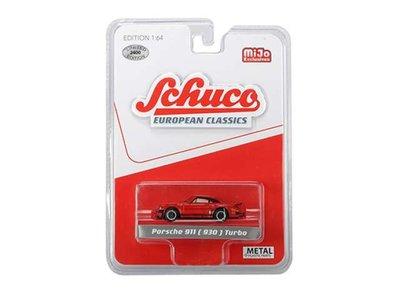 Schuco 1:64 Porsche 911 930 Turbo rood. MiJo Exclusives