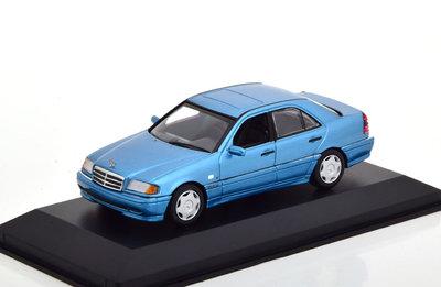 Maxichamps 1:43 Mercedes Benz C-Klasse 1997 blauw Metallic