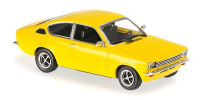 Maxichamps 1:43 Opel Kadett C Coupe 1974 geel