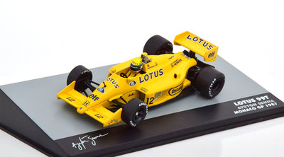 Atlas 1:43 Lotus 99T Ayrton Senna no 12 Monaco GP 1987