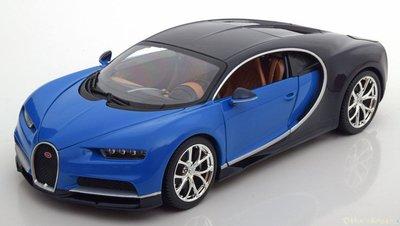 Bburago 1:18 Bugatti Chiron 2016 blauw