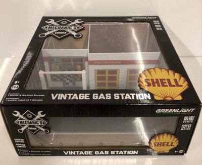 Greenlight 1:64 Vintage Gas Station SHELL Mechanic's Corner