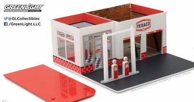 Greenlight 1:64 Vintage Gas Station TEXACO Mechanic's Corner