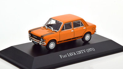 Atlas 1:43 Fiat IAVA 128TV 1971 oranje in blisterverpakking