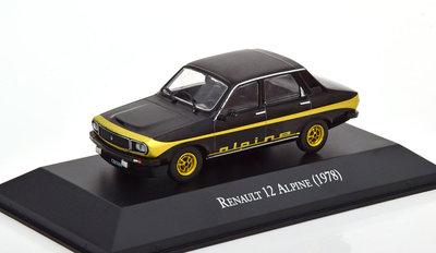 Atlas 1:43 Renault 12 Alpine 1978 zwart goud in blisterverpakking