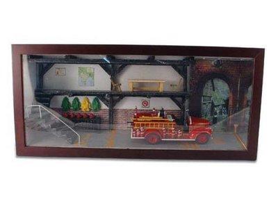 Signature Models 1:50 Diorama Brandweer GMC fire truck Detroit