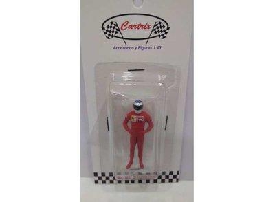 Cartrix 1:43 Michael Schumacher Ferrari 1996 rood Figuur. Resin series