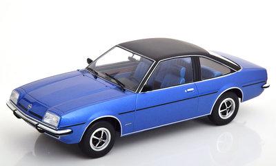 MCG 1:18 Opel Manta B Berlinetta 1975 blauw zwart